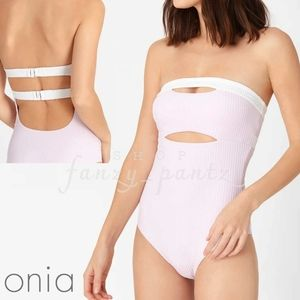 NEW Onia Natalie Rib One Piece Swimsuit Cut out S